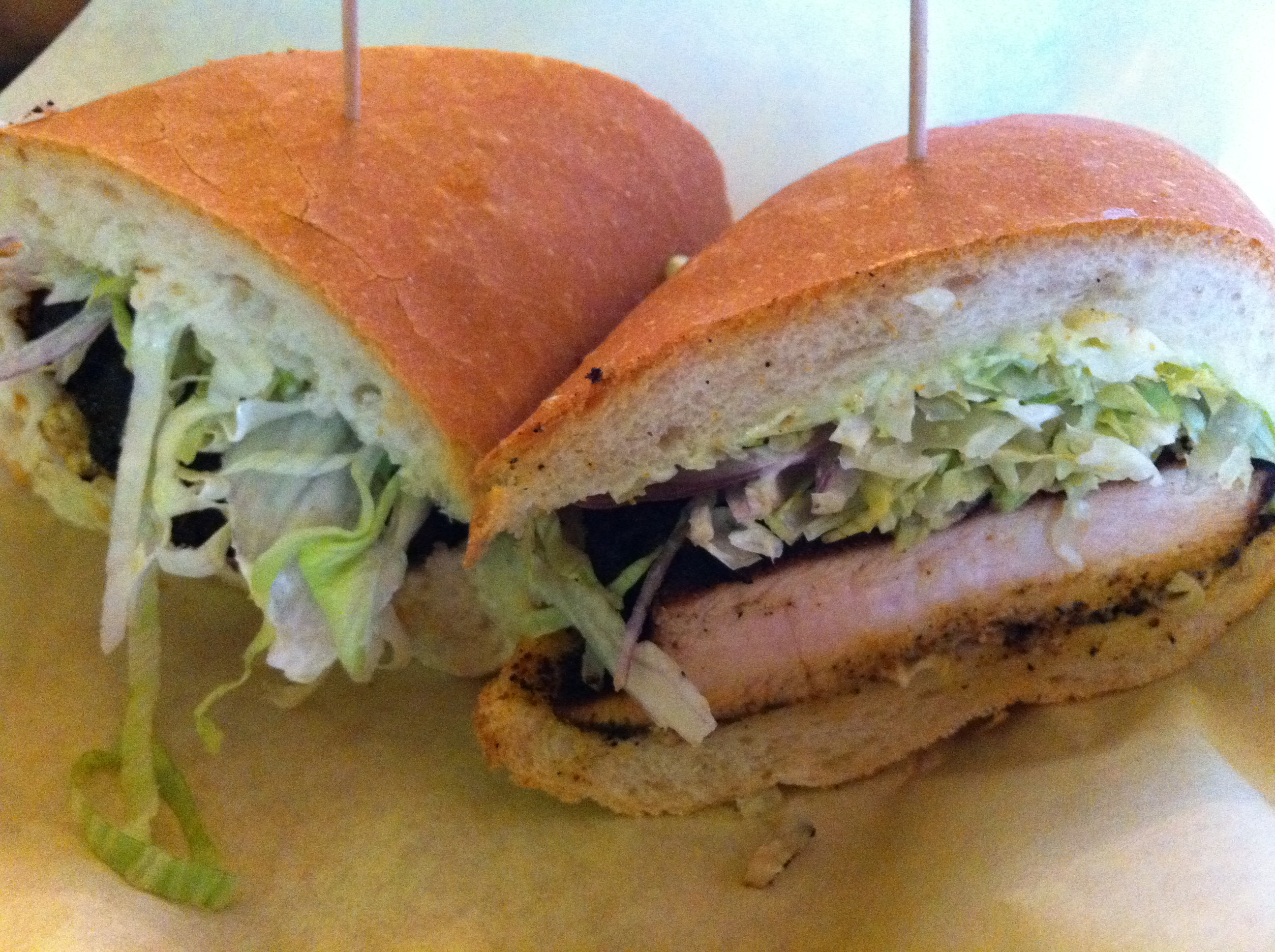 The blackened chicken sandwich at Ferdi's is a signature dish and a ...
