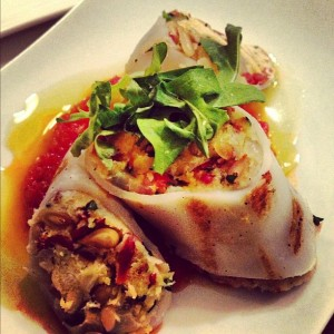 I loved the Monterey Bay squid, stuffed with chorizo and pinenuts.