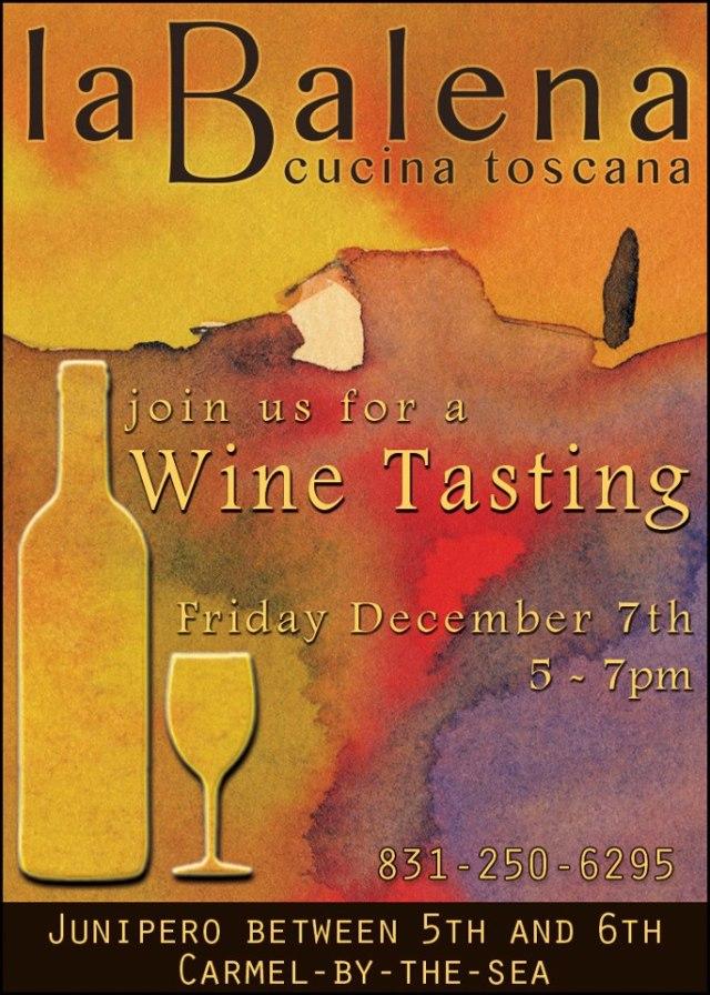 La Balena_Wine tasting flyer