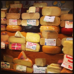 The Cheese Shops has dozens of different varieties of cheese, including many obscure cheeses.