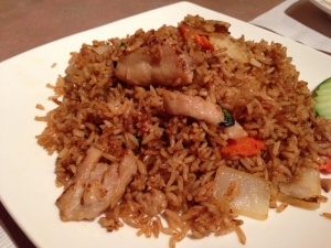 The fried rice was easily the best I've had in town.