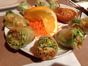 The fresh rolls were so light and flavorful.