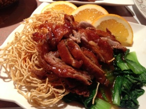 The orange duck was a nice nod to the Chinese classic.