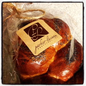 The challah bread from Parker-Lusseau Pastries is great for cheesy toast!