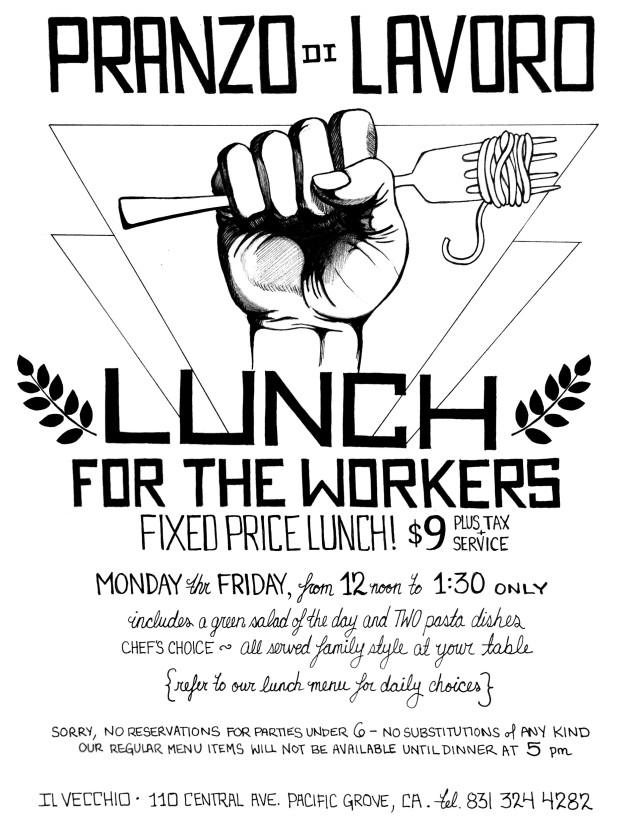 il Vecchio_Lunch flyer