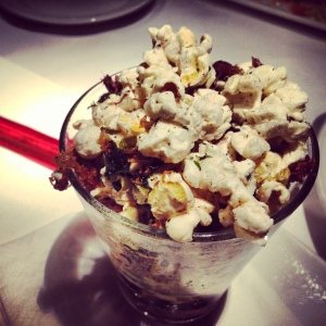First truffle popcorn, then bacon popcorn. It was only a matter of time before duck popcorn hit our local food scene too.