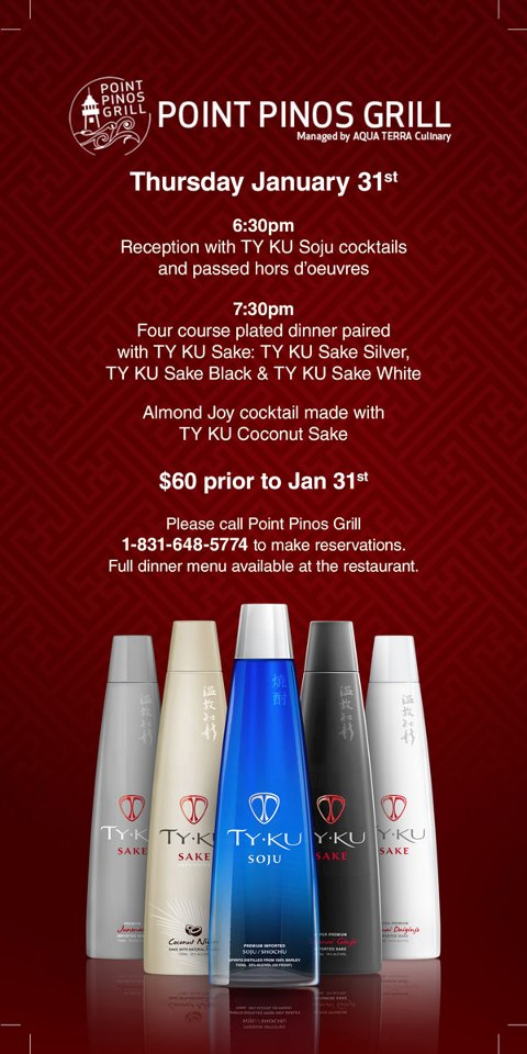 Point Pinos Grill_TY KU dinner flyer