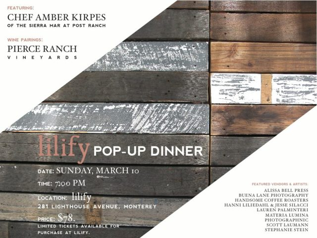 Lilify_Popup dinner flyer